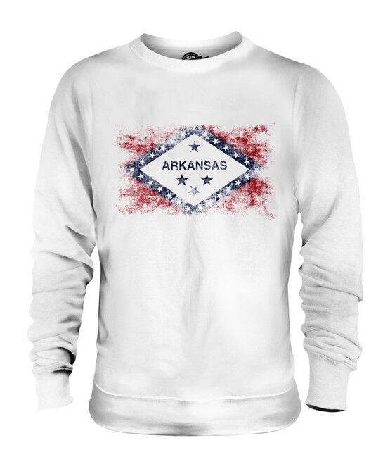 ARKANSAS STATE DISTRESSED FLAG UNISEX SWEATER TOP ARKANSAN ARKANSAWYER SHIRT