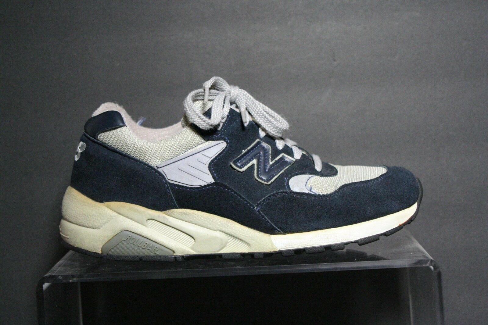 New Balance 585 Vintage Running Sneaker Athletic Multi Navy bluee Men 8.5 USA Hip