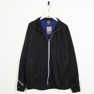 Détails sur Vintage Nike Clima Fit Petit Logo Souple Coque Veste Noir Taille L