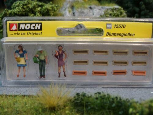 """H0 Noch 15570 Figuren-Set /""""Blumengießen/"""" OVP"""