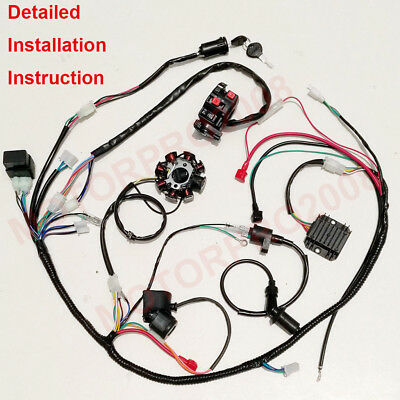 COMPLETE ELECTRICS GY6 150CC CDI STATOR 125CC BUGGY WIRING HARNESS ATV WIRE  LOOM | eBay | Gy6 8 Coil Stator Wiring Diagram |  | eBay