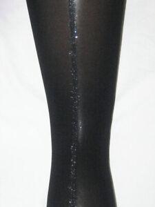 L-Glitter-Seam-Tights-Black-Opaque-14-18-Silver-wide-back-seamed
