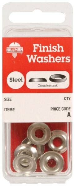 The Hillman Group 310300 Number-6 Countersunk Finish Washer 100-Pack