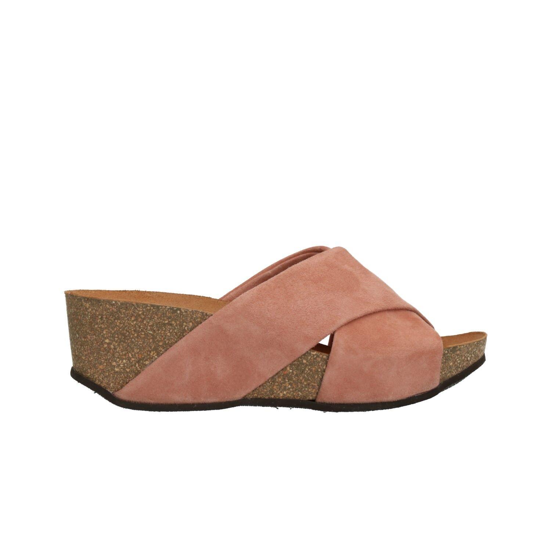 FRAU Slippers Damens's wedge pink Damens's Slippers Sandales mod. 59A6 955f71