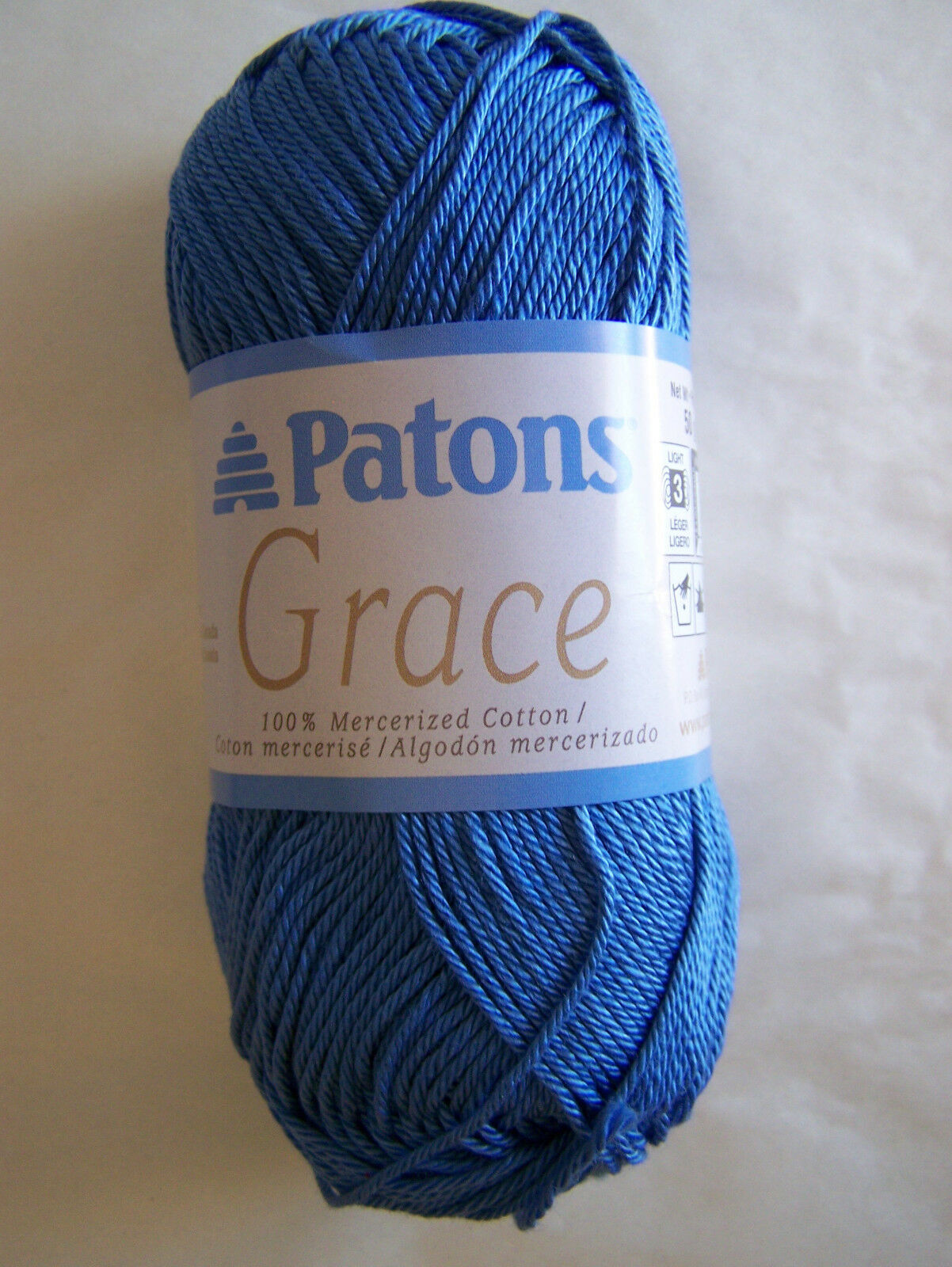 Patons GRACE 100/% mercerized cotton yarn 1 sk choice//color