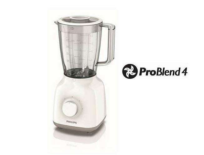 Philips HR2100 00 Daily Collection Blender 400W 1.5 L Plastic Jar 2 speed