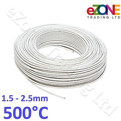 Oven Fryer High Temperature Wire 500° Heat Resistant Gl Fibre Cable on