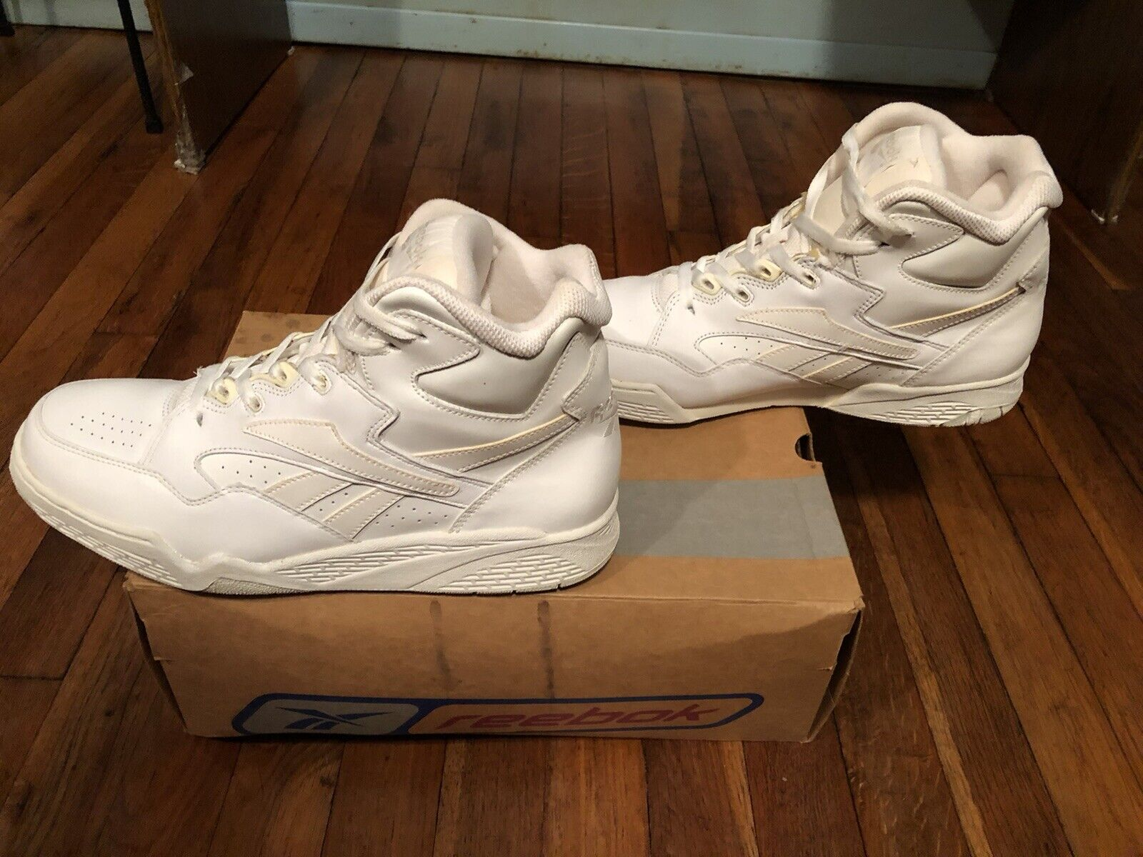 White And Natural Reebok Sneakers - image 4