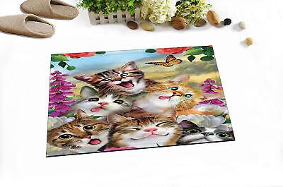 """24x16/"""" Flowers Paris Eiffel Non-slip Door Home Decor Room Flannel Floor Bath Mat"""