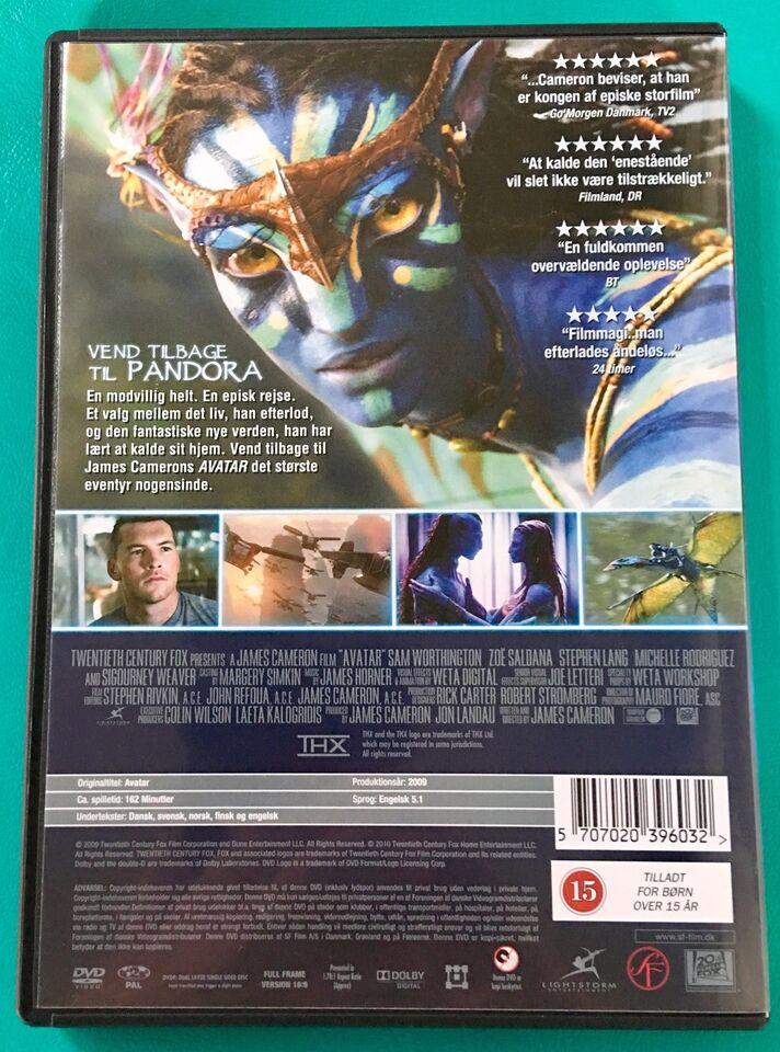 Avatar, DVD, science fiction