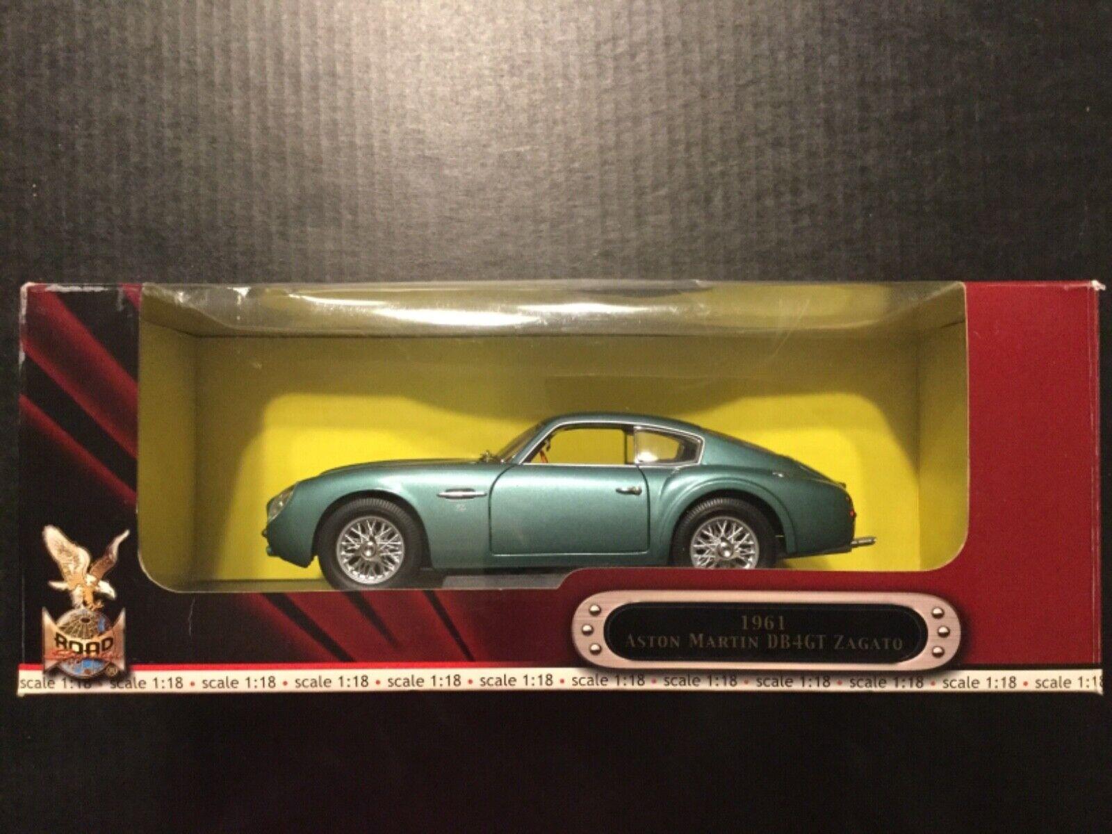 ROAD SIGNATURE 1961 ASTON MARTIN DB4GT ZAGATO 1 18 SCALE DIE CAST Modelll CAR
