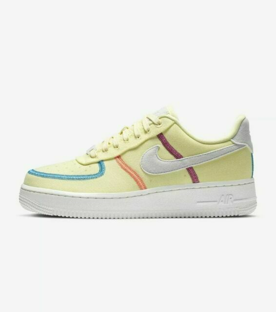 Size 9 - Nike Air Force 1 '07 Low LX Stitched Canvas - Life Lime ...