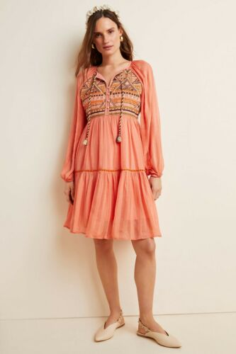 Bl-nk London Anthropologie Norah Tiered Embroidere