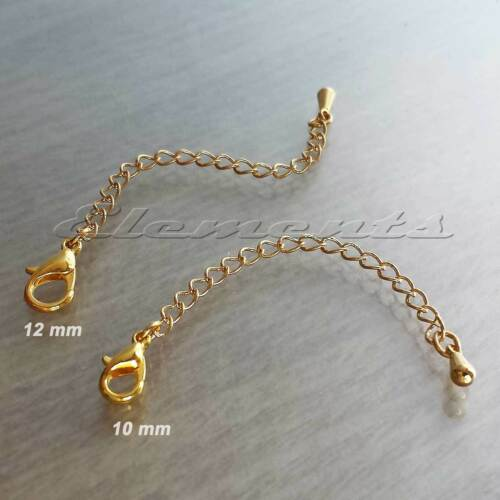 BM109 Gold Plated Extender Chain With Lobster Clasp For Necklace Bracelet