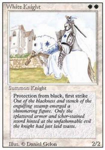 Chevalier blanc MTG 4th edition *MRM* FRENCH 4x White Knight
