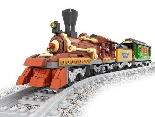 New AUSINI Building Blocks Locomotive Train Passenger train #25809 483pcs