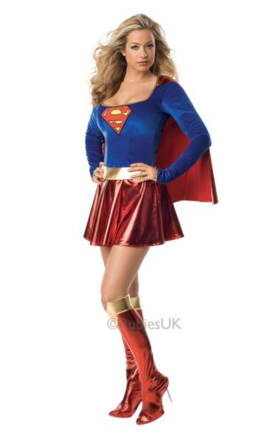 LADIES SUPERGIRL SUPERMAN SUPERHERO TV COMICS COSPLAY FANCY DRESS COSTUME OUTFIT