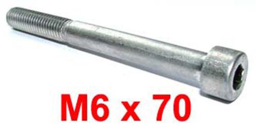6mm x 70 mm inoxydable socket cap X5 M6 x 70 INOX Allen Boulon Vis Capuchon