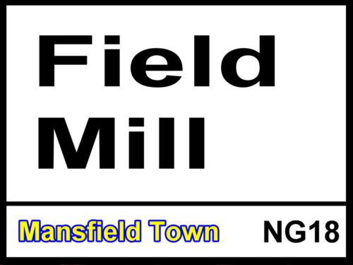 Mansfield TOWN FC Champ Mill Street Signe en Métal Aluminium Football Ground Stadium