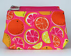 New! Wholesale Lot of 10 x Clinique Orange Print Cosmetic Makeup Bag Zipper