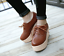 Women-039-s-Lace-Up-Oxfords-Muffins-Casual-Wedge-Heel-Thick-Platform-Round-Toe-Shoes thumbnail 5
