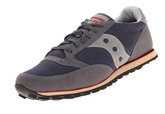 various colors a0256 77af9 Saucony Originals Men's Jazz Low Pro Vegan Sneaker 10 Grey/red