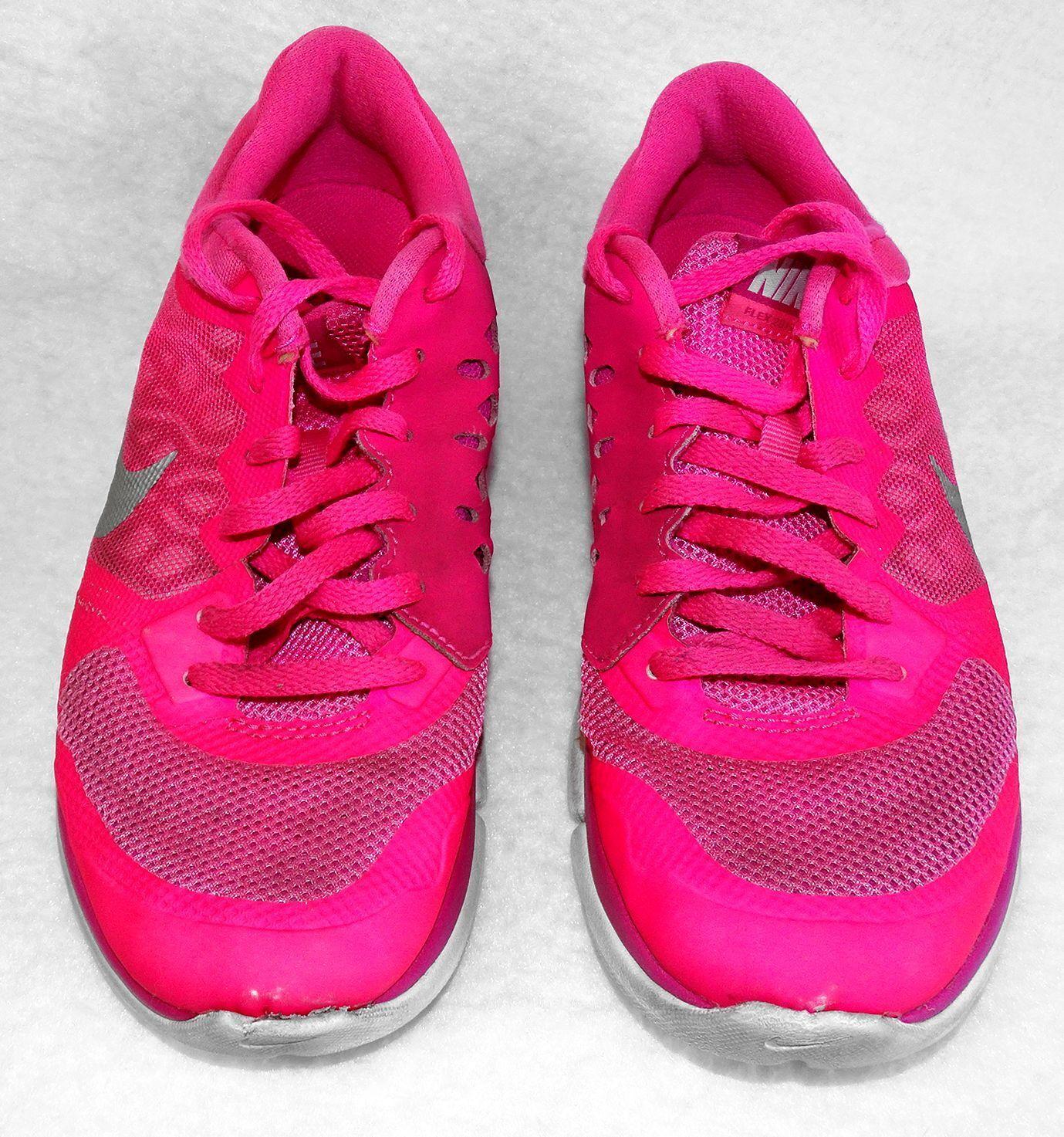 Sz 7 femmes NIKE FLEX RUN Athletic Chaussures 709021-600 Hot rose