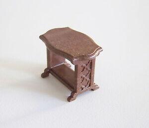 PLAYMOBIL (J2100) EPOQUE 1900 - Petite Table Guéridon Marron Foncé pour Salon