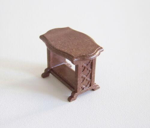 j2100 1900-epoque small table dark brown coffee table for salon Playmobil