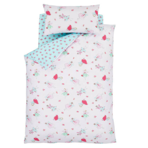 Catherine Lansfield Fairies Easy Care Cotton Rich Fitted Sheet Pink