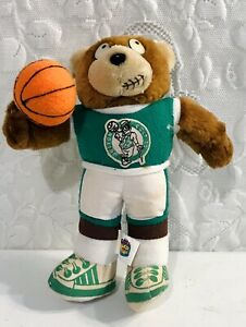 1991-Good-Stuff-Boston-Celtics-NBA-Bear-Plush-With-Basketball-RARE-Vintage-Toy