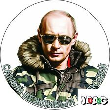 STICKERS AUTOCOLLANTS VLADIMIR POUTINE RUSSIE - 10 CM