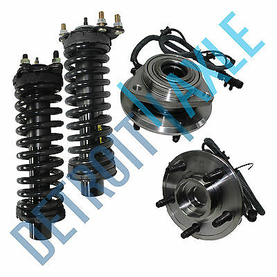 NEW 4 pc Kit: 2 Front Wheel Hub and Bearing Assembly w/ ABS + 2 Complete Struts