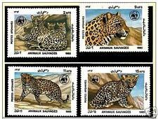 Afghanistan 1985 WWF. W.W.F. Fauna, Leopard Leopardo . Animals FULL SET MNH