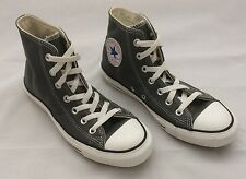 Women's Grey Leather CONVERSE Chuck Taylor All Star Hi Tops. Size 5.