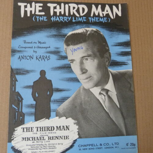 1949 piano solo THE THIRD MAN the harry lime theme Michael Rennie