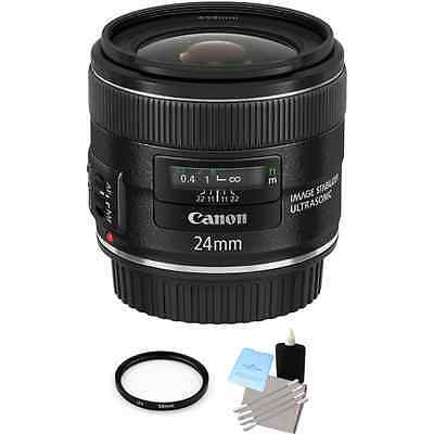 Canon EF 24mm F/2.8 IS USM Lens + UV Filter & Cleaning Kit