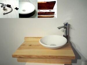 Details Zu Klein Kompletter Massiv Esche Holz Waschtisch Hahn Waschbecken Gäste Wc Bad Boot