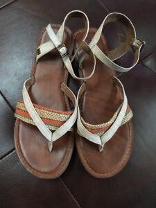 ada7e863cf8f Tom s - NWOB~Natural Multi Woven Stripe Women s Lexie Sandals - Size ...