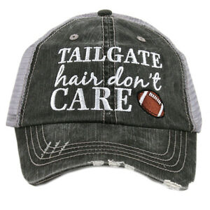 BASEBALL CAP- TRUCKER CAP - TAILGATE HAIR DON'T CARE HAT -MESH HAT