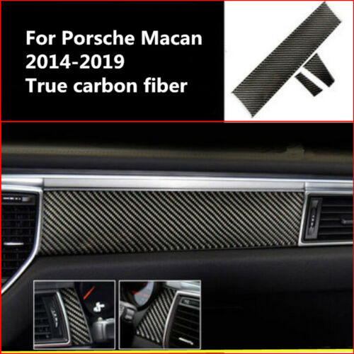 Carbon fiber Center Console Decorative Cover Trim For Porsche Macan 2014-2019