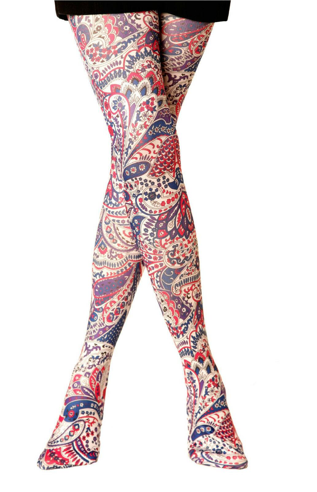 0cd5f1238 EXCLUSIVE NEW LADIES PRINTED TIGHTS 40 DEN VARIOUS COLOURS WOMENS STOCKINGS  | eBay