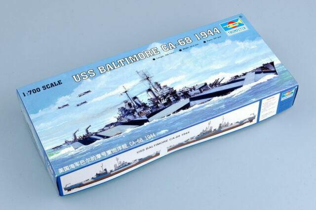Trumpeter 5725 USS Baltimore CA-68 1944  Model Kit 1:700 NIB Free Shipping