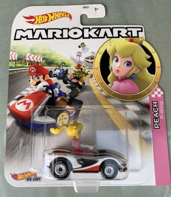 Mario Kart Princess Peach P-Wing Cart Hot Wheels Character Cars Nintendo Series