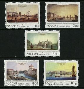 Paintings-St-Petersburg-300th-Anniversary-5-mnh-stamps-2001-Russia-6628-32