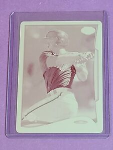 Christian Arroyo Rookie Cleveland Indians 2014 Topps Pro Debut Magenta Plate 1/1