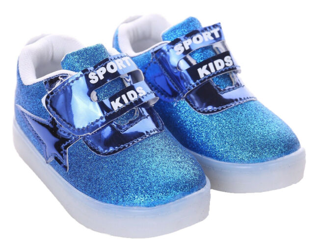 c7daa06ed30 Kids Boys Girls Light up Shoes LED Flashing Trainers Casual SNEAKERS ...