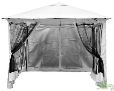 Set Teli Zanzariere Per Gazebo 300x300cm 3x3mt Tende Con Zip Esterno Giardino Lustrous Strutture E Protezioni