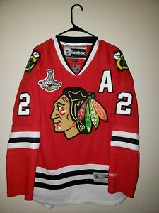 Chicago-Blackhawks-Duncan-Keith-Pro-Stitched-Reebok-Home-Jersey-Size-M