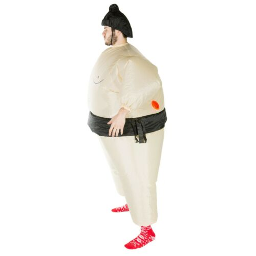 Adult Funny Inflatable Fat Sumo Wrestler Costume Outfit Suit Halloween One Size